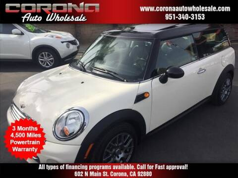 2012 MINI Cooper Clubman for sale at Corona Auto Wholesale in Corona CA
