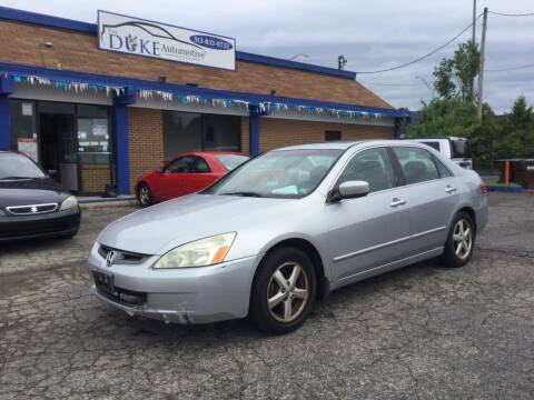 2003 Honda Accord for sale at Duke Automotive Group in Cincinnati OH