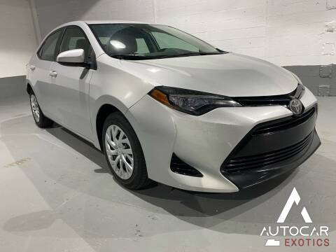 2017 Toyota Corolla for sale at AutoCar Exotics in Medley FL