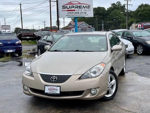 2004 Toyota Camry Solara for sale at Supreme Auto Sales in Chesapeake VA