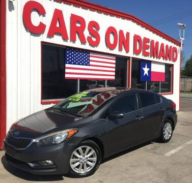 2014 Kia Forte for sale at Cars On Demand 3 in Pasadena TX