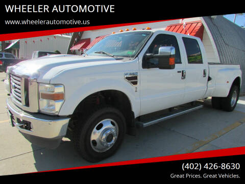2009 Ford F-350 Super Duty for sale at WHEELER AUTOMOTIVE in Blair NE