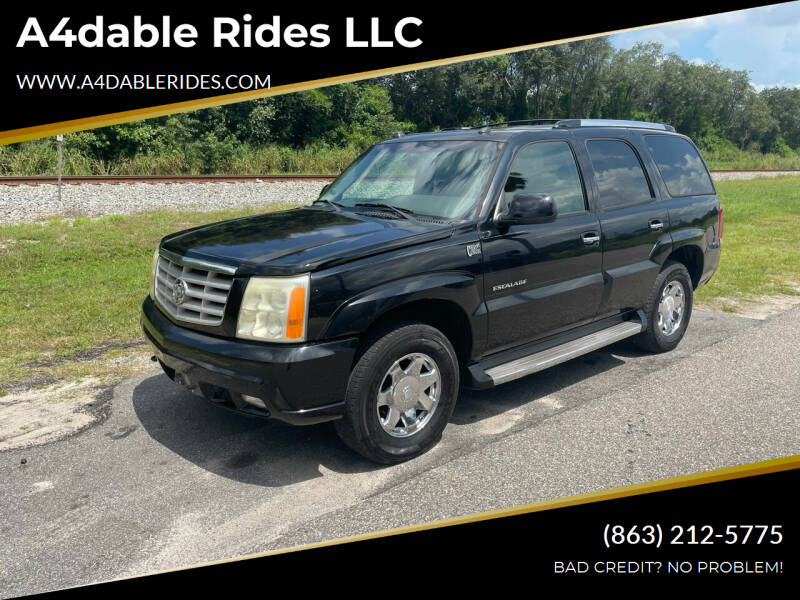 2005 Cadillac Escalade for sale at A4dable Rides LLC in Haines City FL