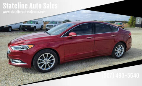 2017 Ford Fusion for sale at Stateline Auto Sales in Mabel MN