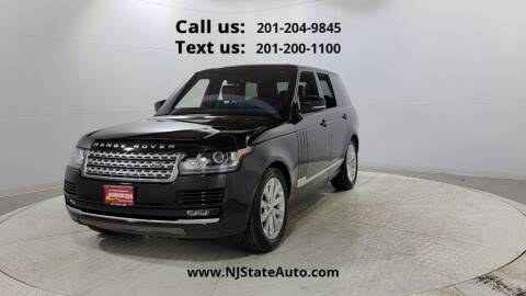 2016 Land Rover Range Rover for sale at NJ State Auto Used Cars in Jersey City NJ