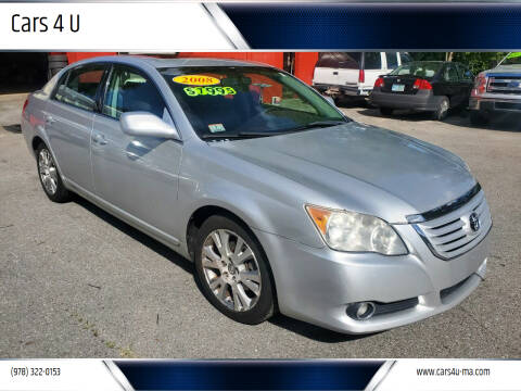 2008 Toyota Avalon for sale at Cars 4 U in Haverhill MA