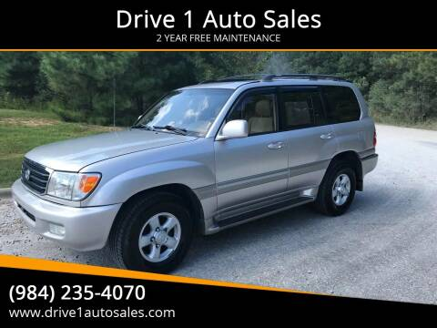 2000 Toyota Land Cruiser for sale at Drive 1 Auto Sales in Wake Forest NC