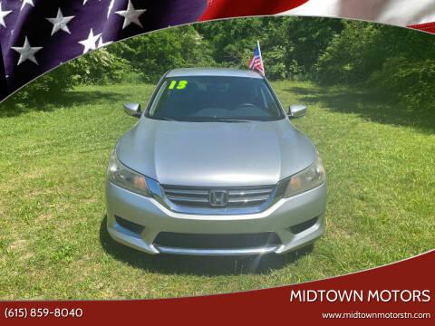 2013 Honda Accord for sale at Midtown Motors in Greenbrier TN