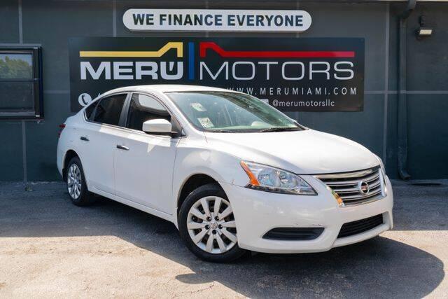 2014 Nissan Sentra for sale at Meru Motors in Hollywood FL