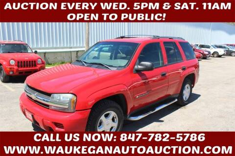 2002 Chevrolet TrailBlazer for sale at Waukegan Auto Auction in Waukegan IL
