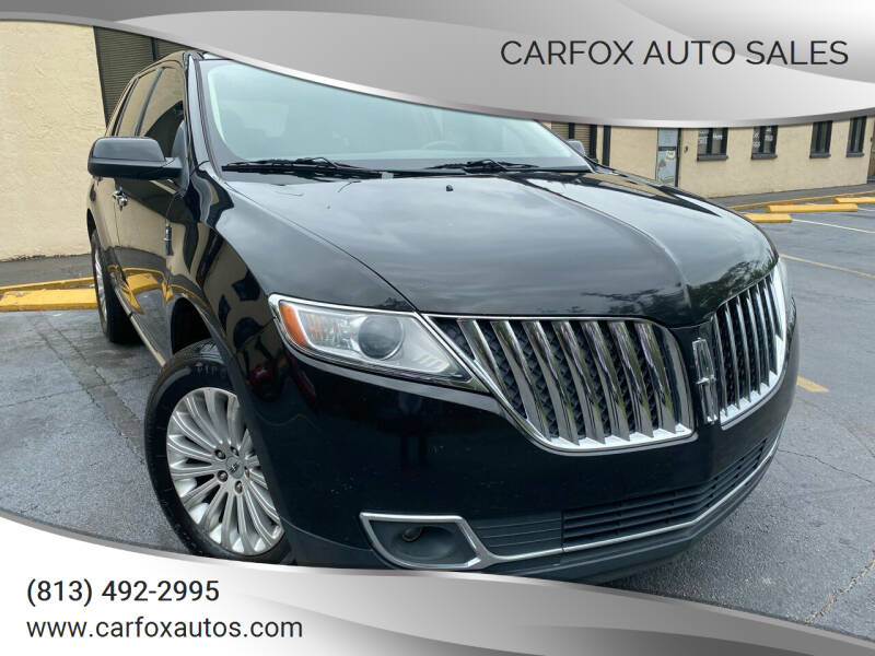 2013 Lincoln MKX for sale at Carfox Auto Sales in Tampa FL