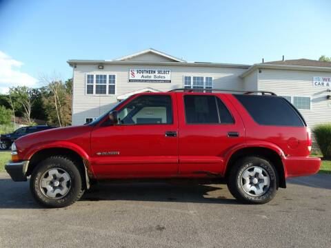 2004 Chevrolet Blazer for sale at SOUTHERN SELECT AUTO SALES in Medina OH