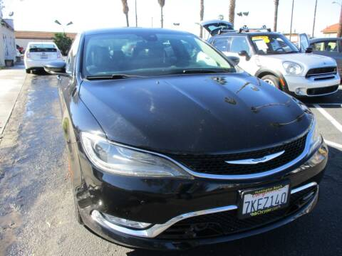 2015 Chrysler 200 for sale at F & A Car Sales Inc in Ontario CA