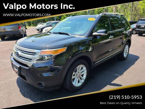 2013 Ford Explorer for sale at Valpo Motors Inc. in Valparaiso IN