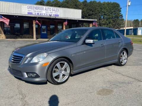 2010 Mercedes-Benz E-Class for sale at Greenbrier Auto Sales in Greenbrier AR