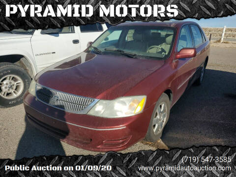 2001 Toyota Avalon for sale at PYRAMID MOTORS - Pueblo Lot in Pueblo CO
