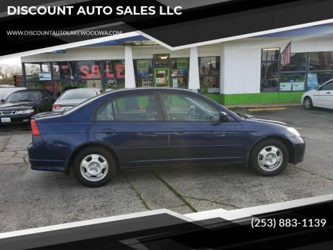 2005 Honda Civic for sale at DISCOUNT AUTO SALES LLC in Spanaway WA