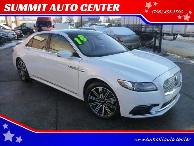 2018 Lincoln Continental for sale at SUMMIT AUTO CENTER in Summit IL