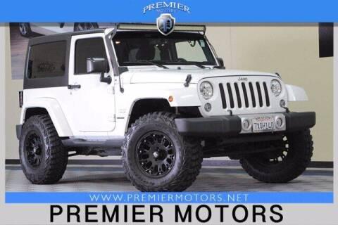 2015 Jeep Wrangler for sale at Premier Motors in Hayward CA