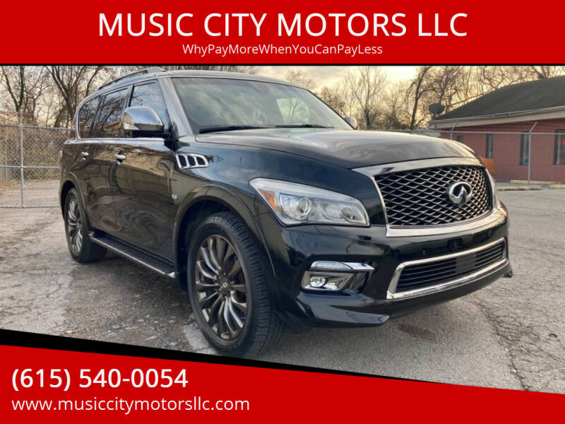 2016 Infiniti QX80 for sale at MUSIC CITY MOTORS LLC in Nashville TN
