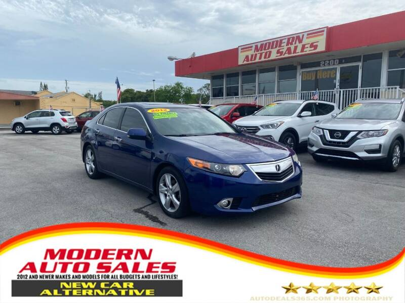 2012 Acura TSX for sale at Modern Auto Sales in Hollywood FL