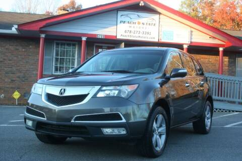 2011 Acura MDX for sale at Peach State Motors Inc in Acworth GA