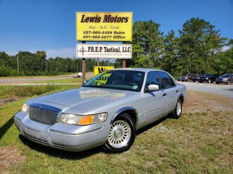 2001 Mercury Grand Marquis for sale at Lewis Motors LLC in Deridder LA