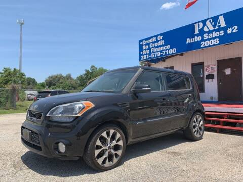 2013 Kia Soul for sale at P & A AUTO SALES in Houston TX
