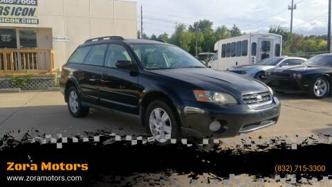 2005 Subaru Outback for sale at Zora Motors in Houston TX