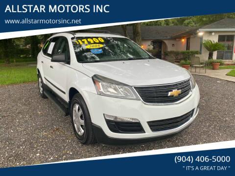 2016 Chevrolet Traverse for sale at ALLSTAR MOTORS INC in Middleburg FL