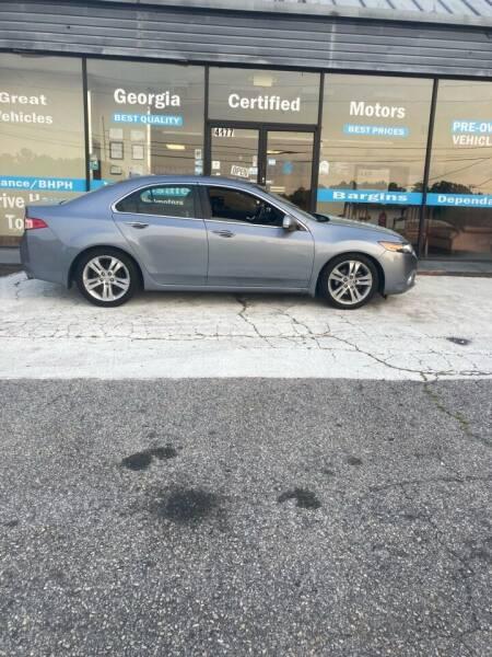 2011 Acura TSX for sale at Georgia Certified Motors in Stockbridge GA