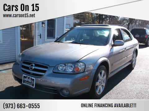 2002 Nissan Maxima for sale at Cars On 15 in Lake Hopatcong NJ