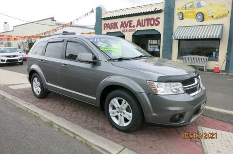 2012 Dodge Journey for sale at PARK AVENUE AUTOS in Collingswood NJ