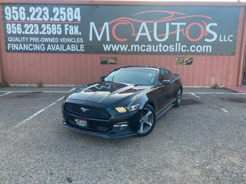 2015 Ford Mustang for sale at MC Autos LLC in Pharr TX