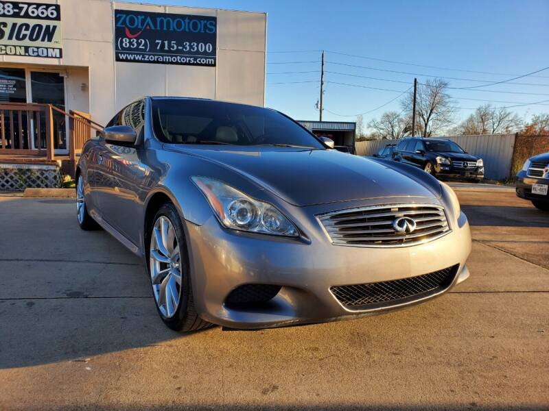 2009 Infiniti G37 Coupe for sale at Zora Motors in Houston TX