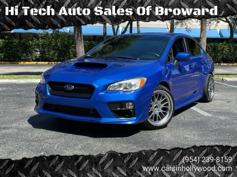 2017 Subaru WRX for sale at Hi Tech Auto Sales Of Broward in Hollywood FL