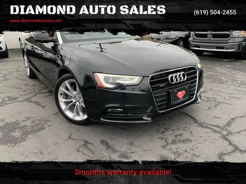 2014 Audi A5 for sale at DIAMOND AUTO SALES in El Cajon CA
