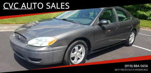 2004 Ford Taurus for sale at CVC AUTO SALES in Durham NC