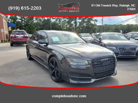 2015 Audi A8 L for sale at Complete Auto Center , Inc in Raleigh NC