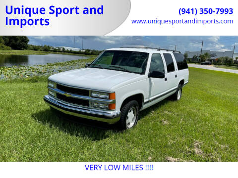 1999 Chevrolet Suburban for sale at Unique Sport and Imports in Sarasota FL
