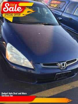 2003 Honda Accord for sale at Budget Auto Deal and More Services Inc in Worcester MA