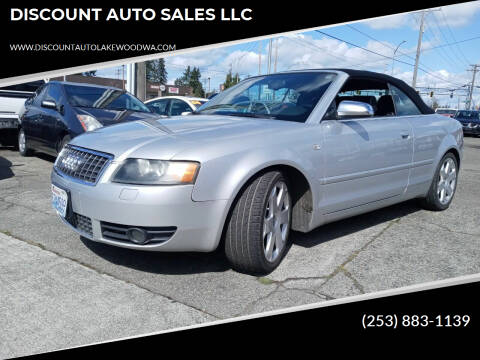 2005 Audi S4 for sale at DISCOUNT AUTO SALES LLC in Spanaway WA