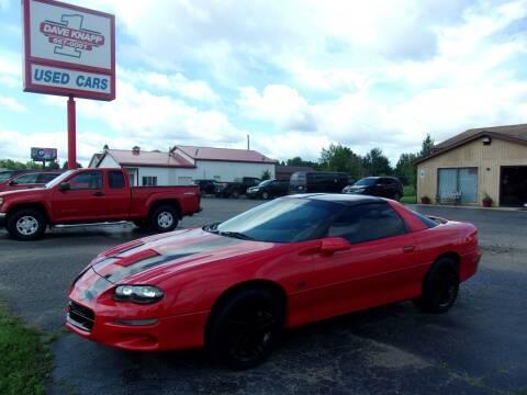 2002 Chevrolet Camaro for sale at DAVE KNAPP USED CARS in Lapeer MI