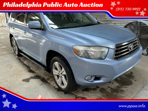 2008 Toyota Highlander for sale at Philadelphia Public Auto Auction in Philadelphia PA
