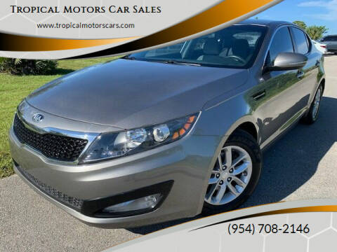 2013 Kia Optima for sale at Tropical Motors Car Sales in Deerfield Beach FL