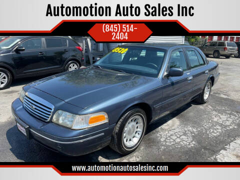 1998 Ford Crown Victoria for sale at Automotion Auto Sales Inc in Kingston NY