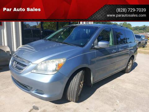 2006 Honda Odyssey for sale at Par Auto Sales in Lenoir NC