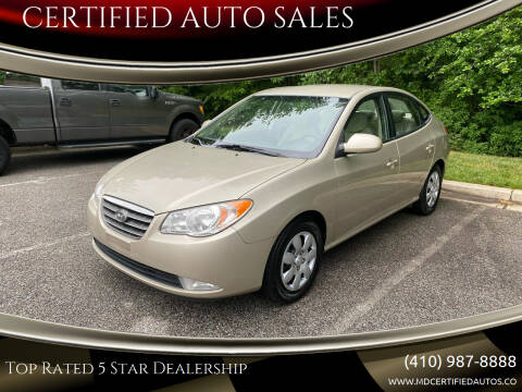 2008 Hyundai Elantra for sale at CERTIFIED AUTO SALES in Severn MD