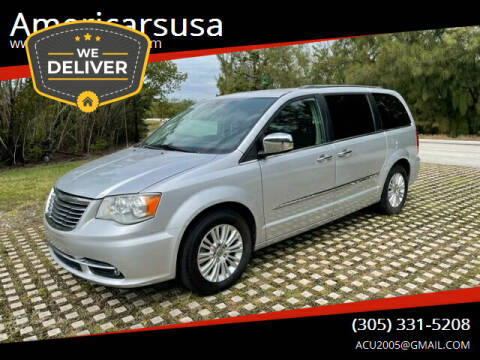 2012 Chrysler Town and Country for sale at Americarsusa in Hollywood FL