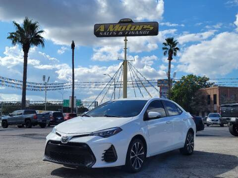 2017 Toyota Corolla for sale at A MOTORS SALES AND FINANCE in San Antonio TX